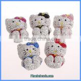 Wholesale Hot Big Kitty Shape Crystal Cat Pendants For Necklaces CPP-005
