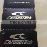 OEM low price art paper Silver/Gold Stamping hang tag printing label sticker with glossy/matte finishing