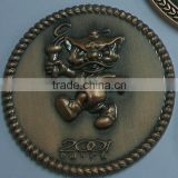 custom made 3D sculpture coin,antique copper coin,zinc alloy coin