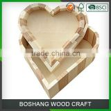 Love Heart Shape Wood Jewelry Box