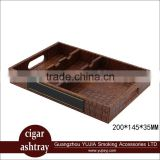 Guangzhou leather cigar tray cigar ashtray display stand display box cigar accessories supplier