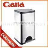 QANA Brand Hot Sale Alibaba Beautiful Fashionable Trash Bin, Eco-Friendly Colorful Home Use Stainless Steel Trash Bin