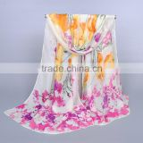 autumn new design scarf Chinoiserie chiffon silk shawls long muslim hijab ladies gift Muffler shawls