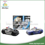 New design kids car racing games free wheel car toy enlighten bricks police toy with competitive price
