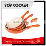Aluminium froged ceramic coating kitchen utensils frying pan sets
