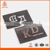 High quality leather patches for clothing denim custom Custom logo cheap for jeans in garment label