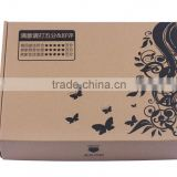 custom recycle material carton box/high quality and cheap price shipping box from China China factory