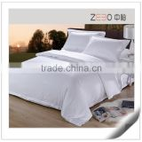 Pure White Sateen Bed Sheet Wholesale Hotel Collection Bedding Sets in Guangzhou                                                                         Quality Choice                                                     Most Popular