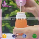 Custom Wholesale Bpa Free Silicone Cosmetic Squeeze Bottle Hanging Shampoo Travel Bottle