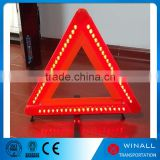 High quality warning triangle with car accessories road safety flashing light sign triangle