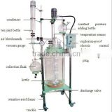 Latest Double-layer Borosilicate Glass Reactor with Variable Frequency Speed Control GR-100L