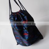 cheap polyester Sublimation printed drawstring bag