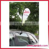 Custom Advertising Promotional Teardrop Car Window Flag for Wholesale