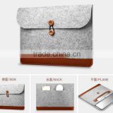 2016 new products multi-function wool felt bag sleeve envelope case for macbook pro air retina