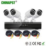 Long Range IR Digital Weatherproof CCTV 4 Channel DVR Kit Security Camera Systems With Recording PST-DVRK04C