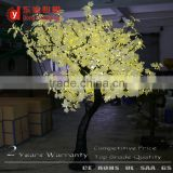Chrismas outdoor decoration high artificial black trunk warm white light maple tree 2.0 Meter white leaf