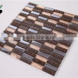 MB SMP16 Premium Mixed Mosaic Wholesale Electroplated Mosaic Tile Decorative Glass Tile Brown Hotel Mosaic Tile