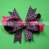 Popular new style lovely wholesale cheerleading hair bow for girls