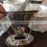 clever pour over cone coffee dripper stainless steel brewer stand paperless