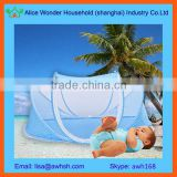 Portable baby travel tent with mosquito net