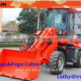 Made in China EVERUN brand telescopic arm mini wheel loader ER1500 with Hydraulic Driving