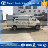 China 2017 new type gasoline engine multiple sidewalk cleaning wahsing truck with high pressure water pump
