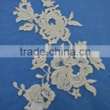 Retro Corded Applique Lace Flower Embroidery Lace Bridal Wedding Lace Trim on Organza Craft Sewing Supplies Lots in stock