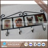 wrought iron wall coat rack with sublimation printable tiles