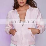 New design Women's Bomer Jacket Baseball Jacket flight Jacket with