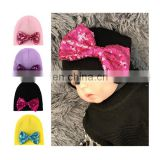 Lotus rhinoceros baby wool knit hat solid color wild autumn and winter warm care ear baby hat