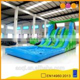 AOQI with free EN14960 certificate good selling inflatable water slide combo