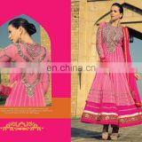 Pink Beautiful Party Wear Long Anarkali Dress Designer Salwar Kameez Anarkali Bridal Full Length Dresses R1376
