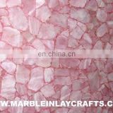Pink Rose Quartz Gemstone Slab