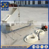 Gold separation machine and gold prospecting equipment gold sluice box with rubber mat