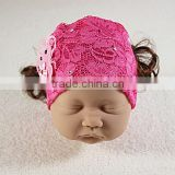 Hair band,hairnet with wigs for reborn baby doll