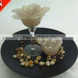 flower shaped crystal votive candle stand