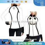(OEM/ODM Factory)Custom breathable Fitness compression tights hoodie ladies sexy jackets