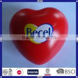 China supplier cheap red heart pu anti stress ball
