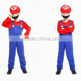 2016 funny cosplay costumes super Mario costume set for boy wholesale halloween party clothes