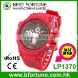 LP1370 Hong Kong manufacturer pu strap digital mvmt watch