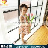 2016 Lovely Girl Summer Dress Frock Design Halter Floral Dress Baby Clothing Casual Wearing