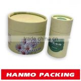 gold foil stamping night cream cosmetic packaging round tube cylinder box with cushion pad inside