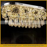 Hottest sale fashion suspended crystal led ceiling lamp & pendant chandelier for home deco made in GuZhen