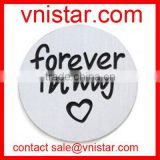 Vnistar 22mm forever in my heart stainless floating memory charm plate AC507