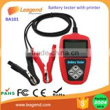 BA101 factory wholesale 12V automotive all standards digital car battery tester with printer