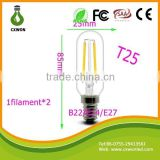 2015 New led filament bulb 2w 110lm/w directly factory wholesale low price high quality led fialment lamp