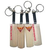 Promotional Mini Branded Cricket Bat with Keyring