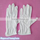 white cotton thin hand work gloves parade etiquette gloves