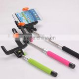 promotional gift stainless steel and ABS material selfie stick