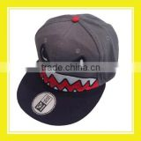 High Quality Products Bros Mr Shark Head Embroidery Adjustable Snapback Denim Grey Cotton Trucker Cap
